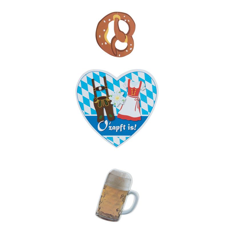 # Herz-Hänger, 75cm mit Bier und Brezel, mit Nylonhänger