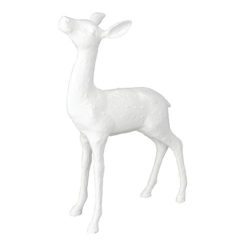 # Reh, stehend, 62x40x12cm, Kunstharz