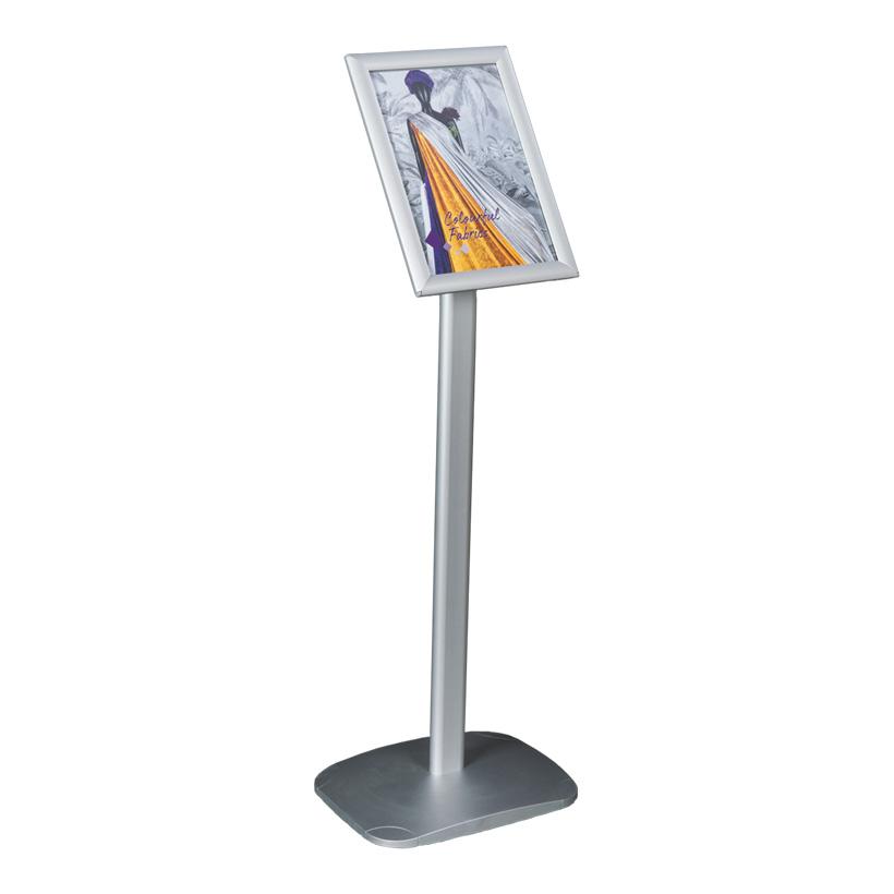 # A4 Infoständer, 29x35x100cm drehbar, horizontal und vertikal, mit Kunststofffuß, für innen