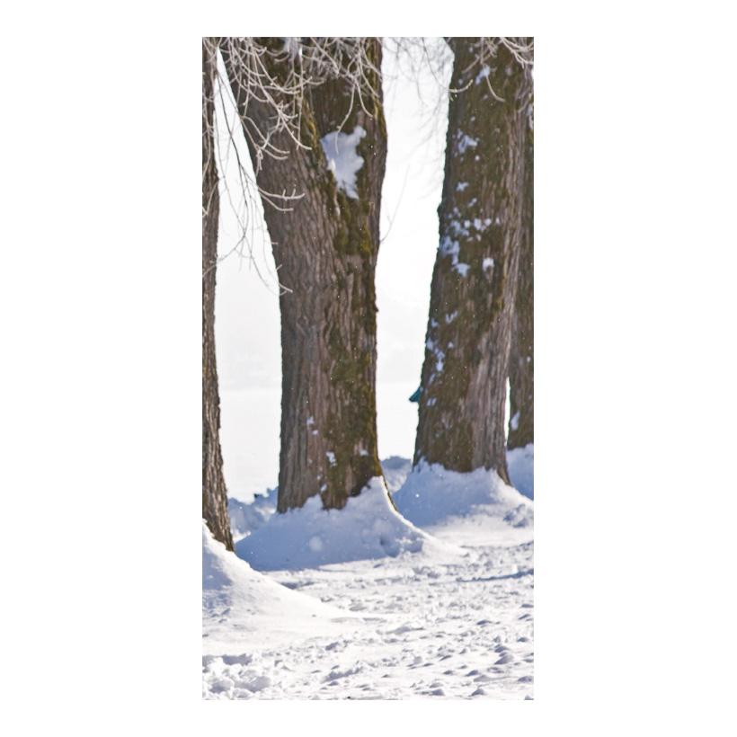 """# Motivdruck """"Winterliche Allee"""", 180x90cm Stoff"""