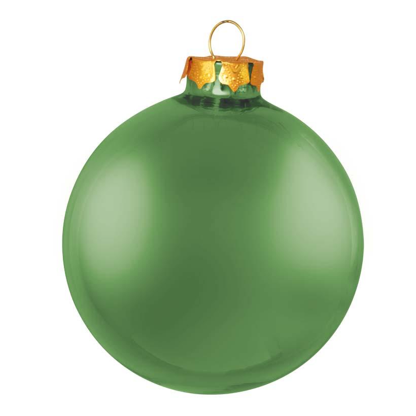 # Weihnachtskugeln, grün matt, Ø 6cm, 6 St./Blister, aus Glas