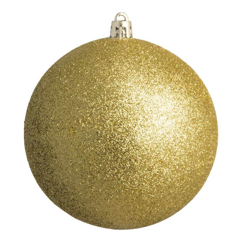 Weihnachtskugel, gold beglittert, Ø 8cm 6 St./Karton