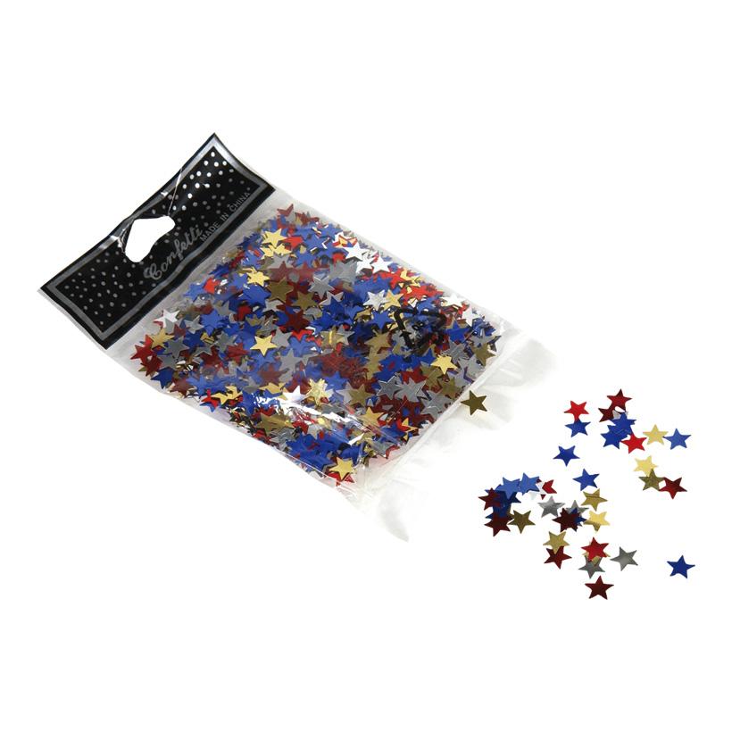 Sternkonfetti, 10mm, mittel, 30gr./Btl., Metallfolie