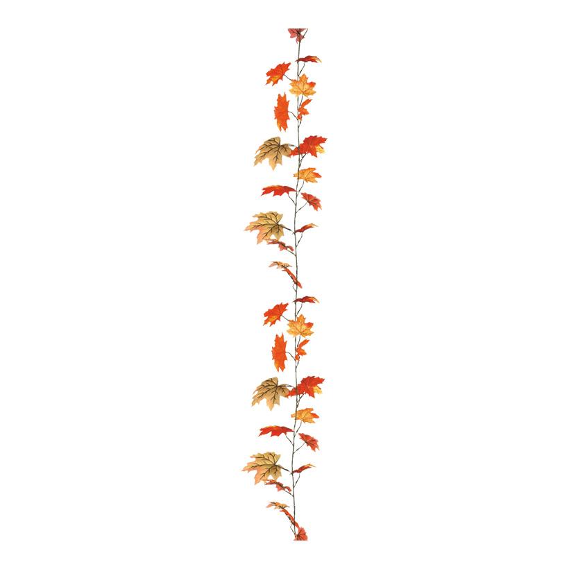Ahornblattgirlande,  Ø 20cm, 180cm, 38-fach, Kunstseide