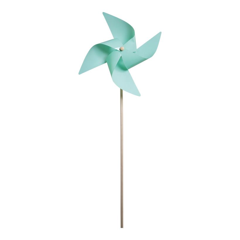 Windmühle, Ø 42cm, 110cm, Kunststoff mit Holzstab