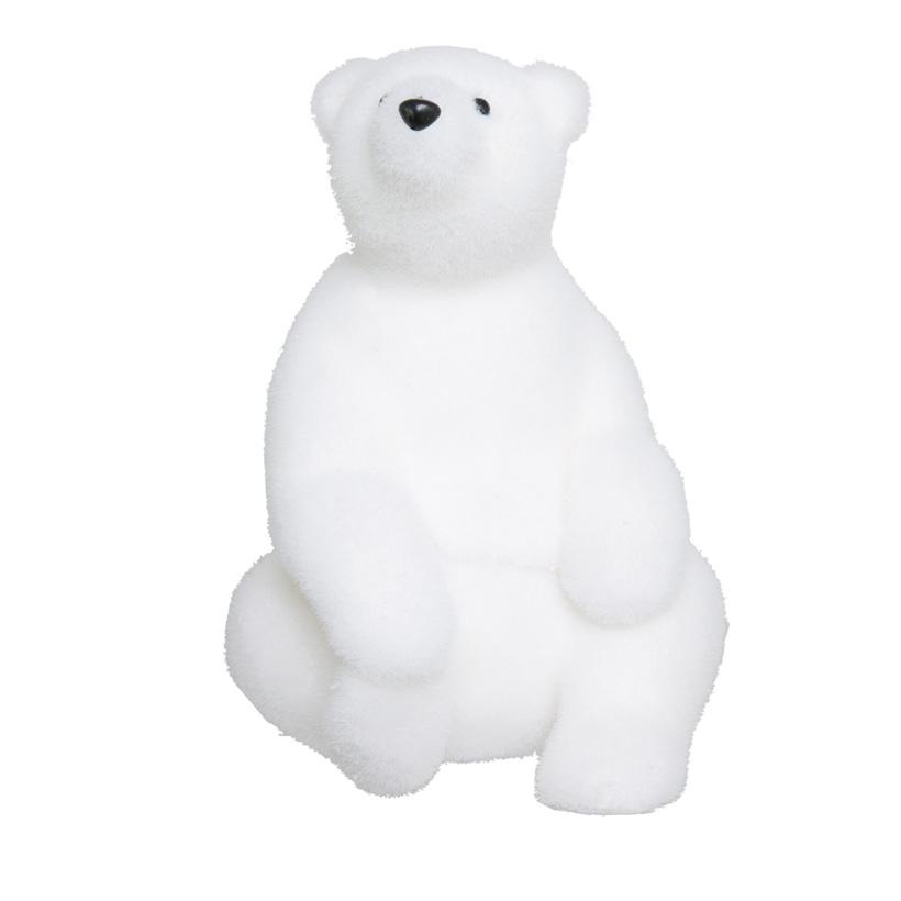 Eisbär, 33x20cm, sitzend, Styropor