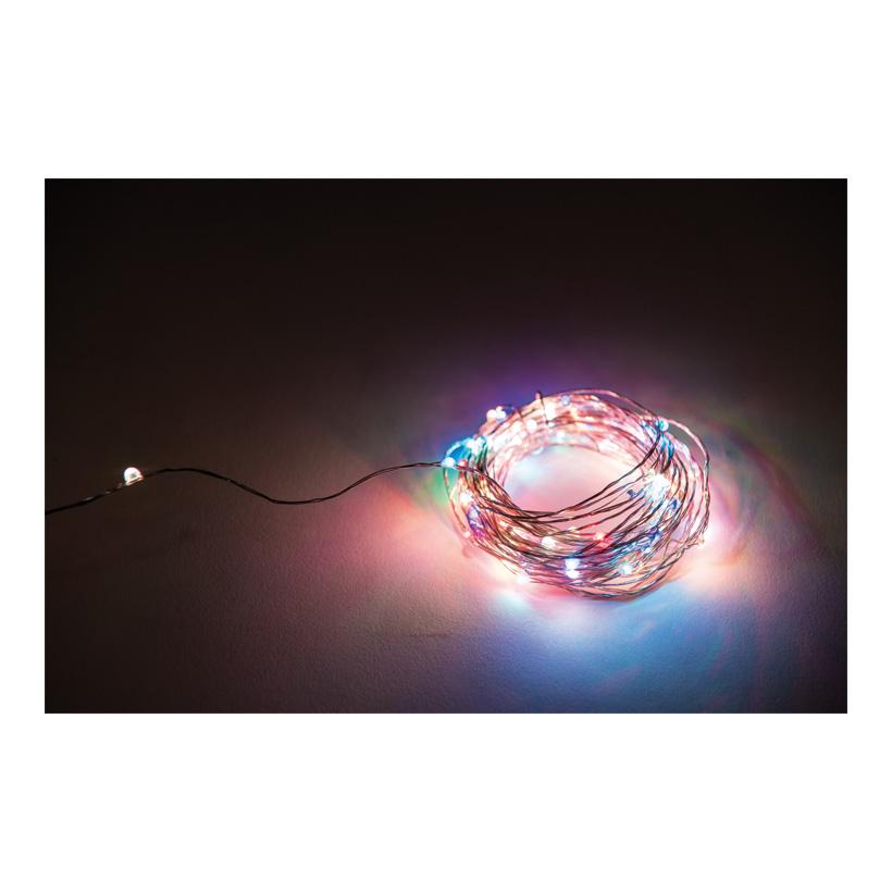 Faden Lichterkette mit 100 LEDs, 1000cm IP44 Stecker für außen, Kabelfarbe: Kupfer