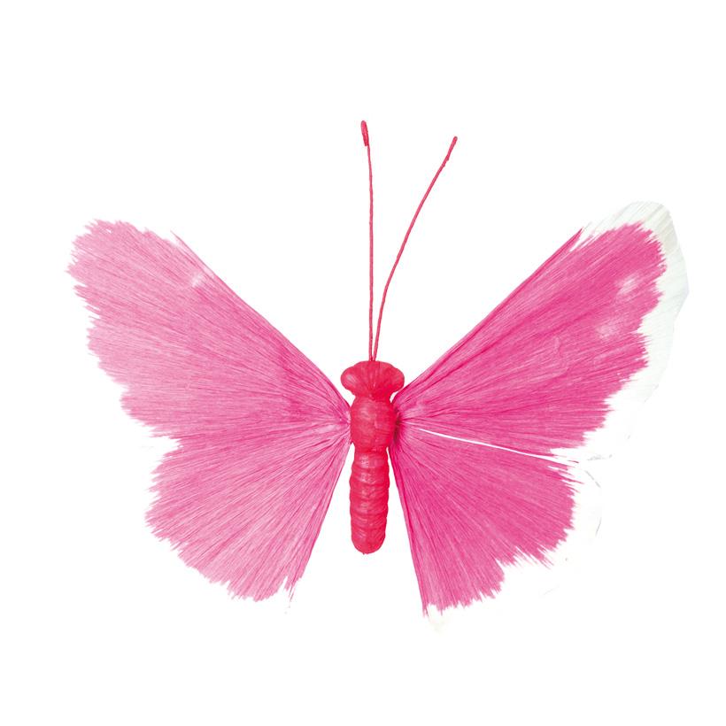 Schmetterling, 60cm Drahtrahmen mit Papier