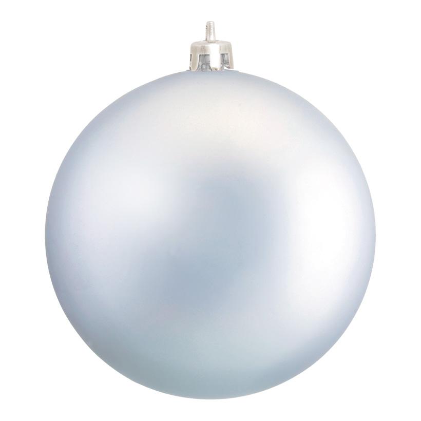 Weihnachtskugel, Mattsilber, Ø 8cm, 6 Stk./Blister, aus Kunststoff, Schwer entflammbar nach B1, UV-beständig