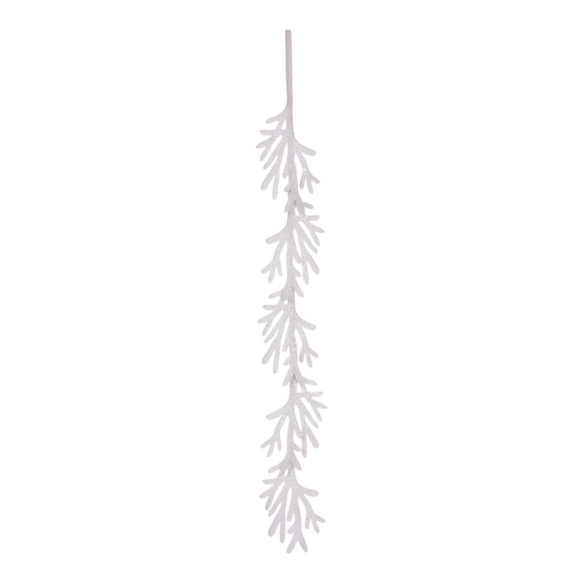 Schneezweiggirlande, 160cm, beglimmert, Schneewatte