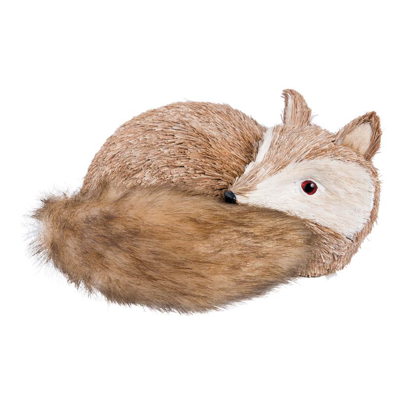 Fuchs, 25x23cm liegend, aus Styropor und Naturfaser
