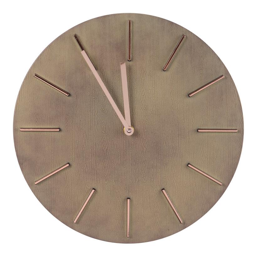 # MDF-Uhr, Ø 40cm mit Holzfinish, batteriebetrieben
