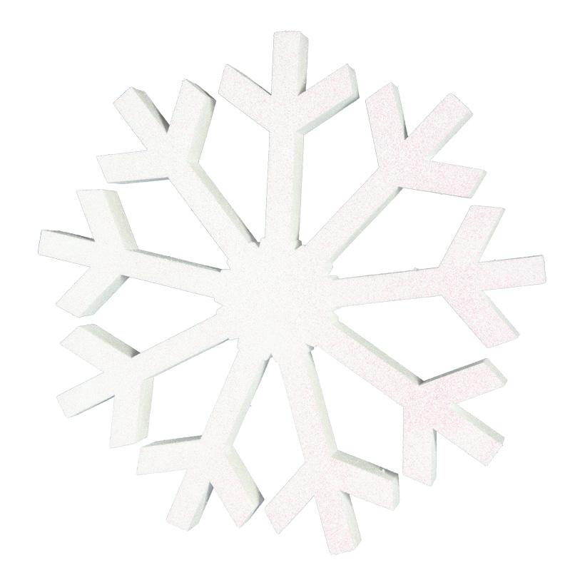 Schneeflocke Ø 60cm beglittert, mit Hänger, aus Styropor