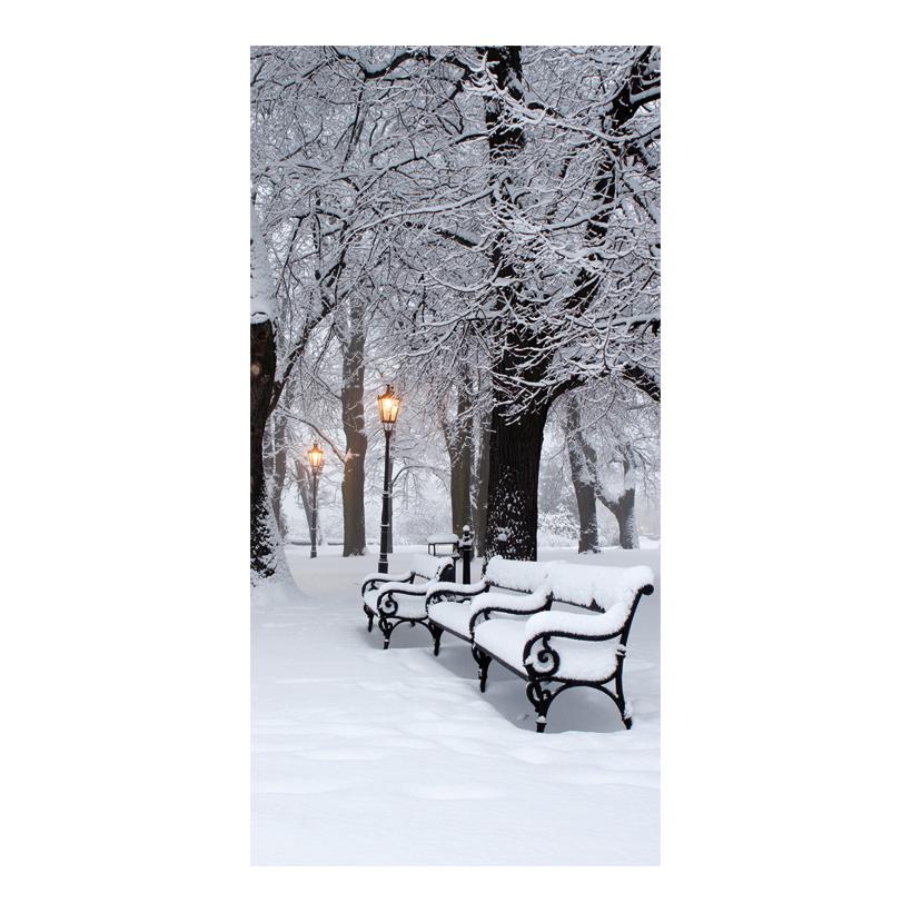 "# Motivdruck ""Park im Winter"", 180x90cm Papier"