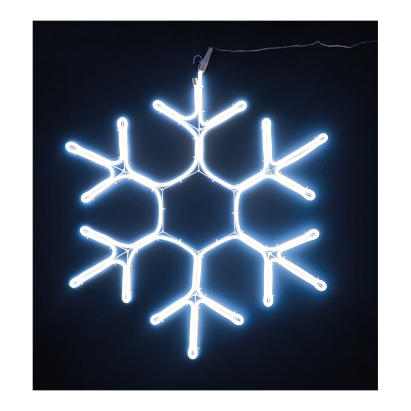 Neon-Schneeflocke, 57x50cm 230V, IP44, 1,5m Zuleitung, LED-Lampe mit Stecker