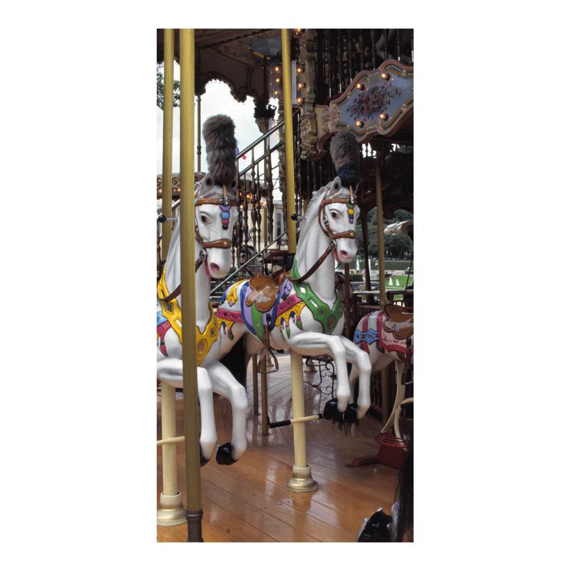 "# Motivdruck ""Karusell"", 180x90cm Stoff"