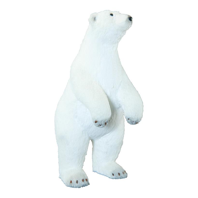 Eisbär, 62x25x32cm stehend, mit Glitter, aus Styropor/Kunstfell