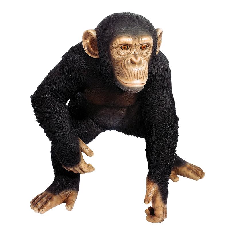 Schimpanse 48x37x50 cm Stehend, Kunstharz