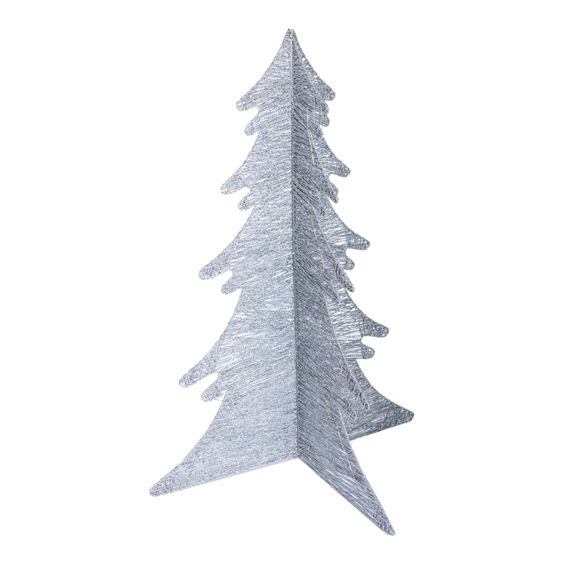 3D-Drahtbaum, H: 100cm Ø 70cm klappbar, mit 35 LEDs, 1,5m Zuleitung, IP44