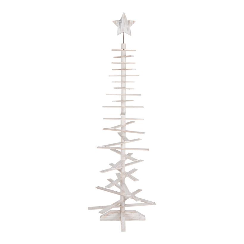 Holzbaum, 180cm, Tannenform, mit 27 Streben+19cm Stern