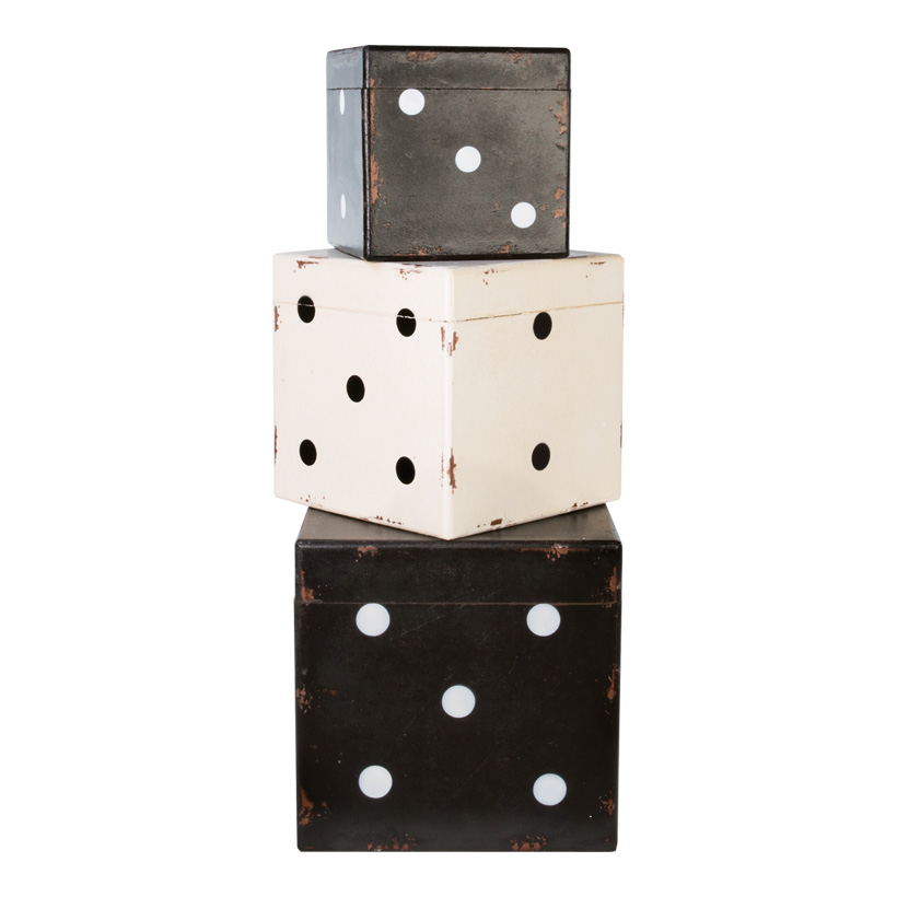# Würfelboxen-Set, 30x30x30cm, 25x25x25cm, 20x20x20cm, 3Stck./Set, Holz