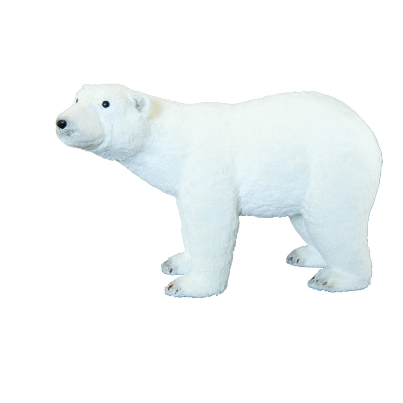 Eisbär, 73x25x43cm mit Glitter, aus Styropor/Kunstfell