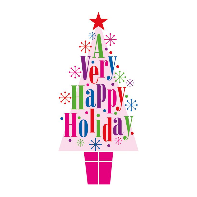 "# Motivdruck ""Happy Holiday"", 180x90cm Papier"