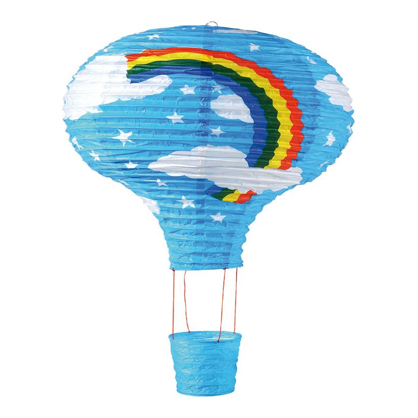 Heißluftballon, Ø 40cm, 60cm, Regenbogen, Papier