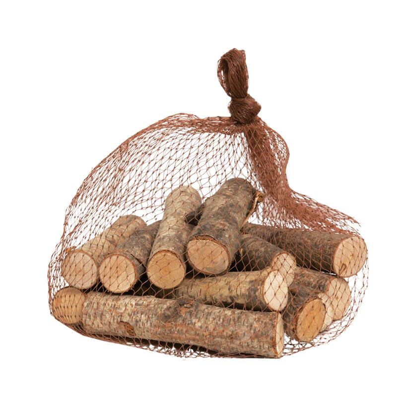 Birkenholz, 10cm Stücke, 250gr./Netz