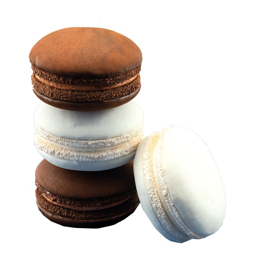 Macarons, Ø10cm im 4er-Set, aus Hartschaum