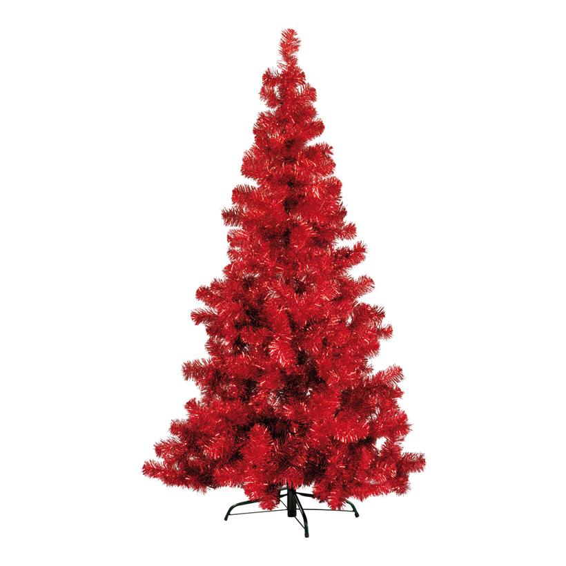 "Tinselbaum ""Deluxe"", 180cm 434 Tips, Metallständer, Metallfolie, schwer entflammbar nach M1, Ø110cm"
