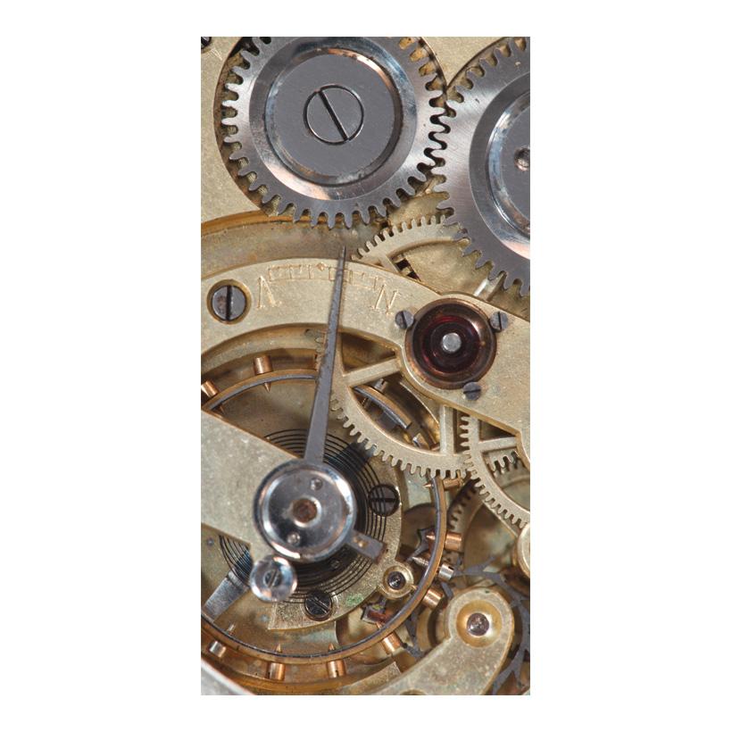 "# Motivdruck ""Uhrwerk"", 180x90cm Stoff"