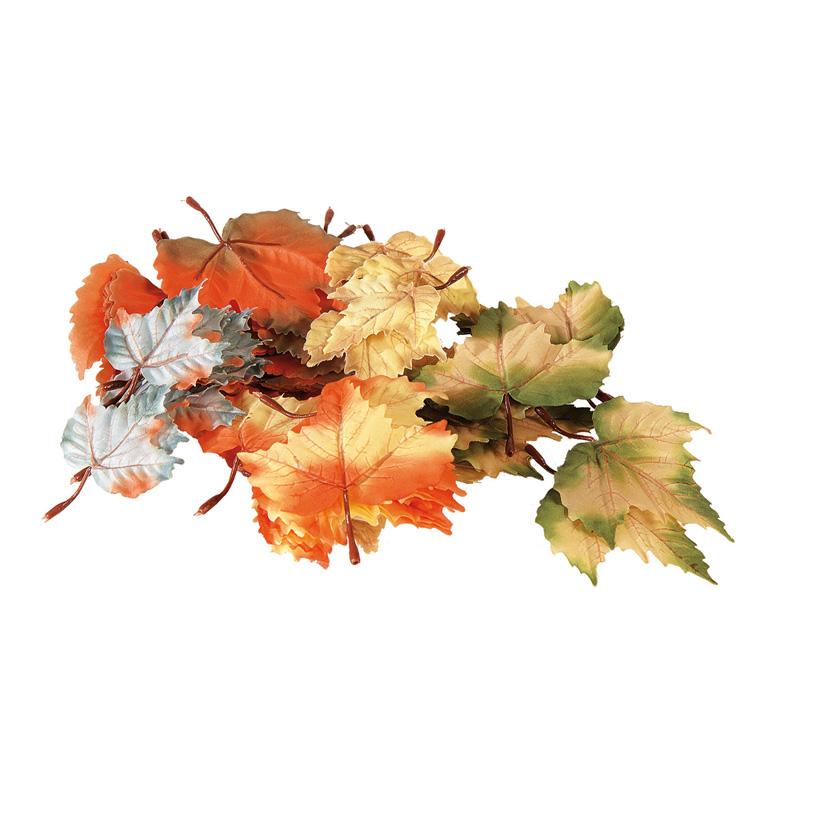 Herbstblätter, 12cm, 72Stck./Btl., sortiert, Kunstseide