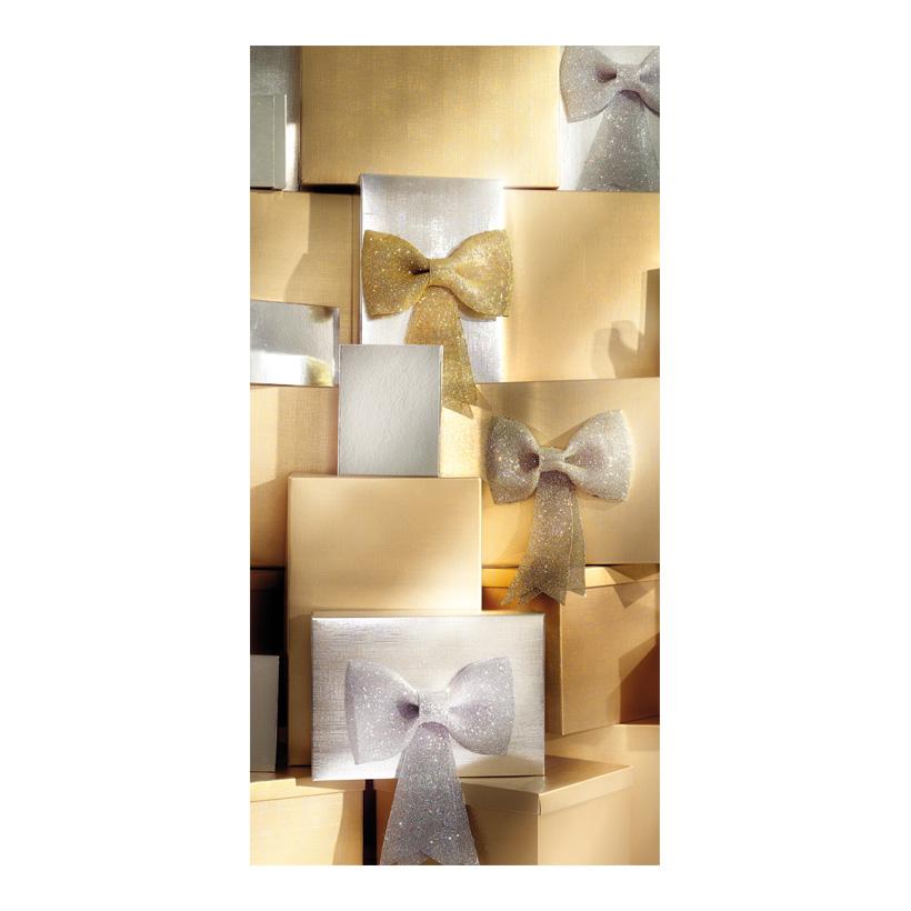 "# Motivdruck ""Goldpäckchen"", 180x90cm Papier"