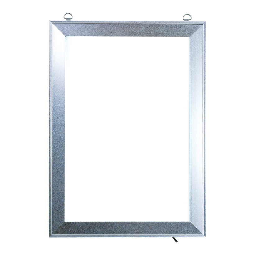 # LED Klapprahmen, Maße innen: 26x38,5cm Maße außen: 33x45cm, DIN A3, vorne 4-fach zu öffnen, Hochformat, Stecker 240V input - 12V output