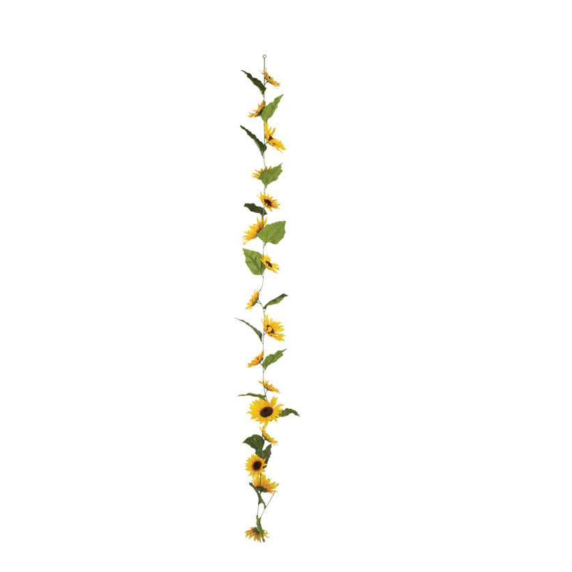 Sonnenblumengirlande, 180cm, Kunststoff