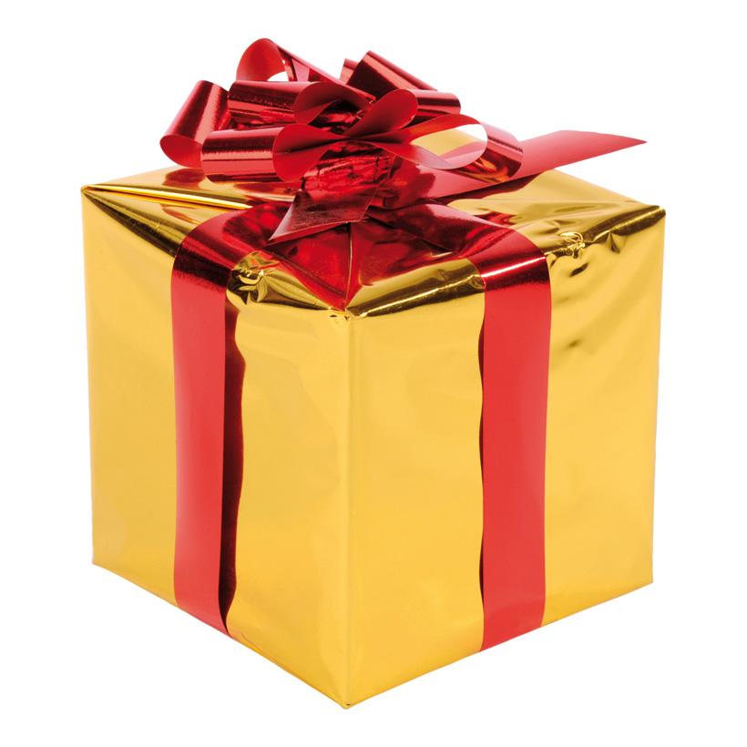 Geschenkpaket, 15x15cm, mit Folienschleife, Styrofoam, Folie