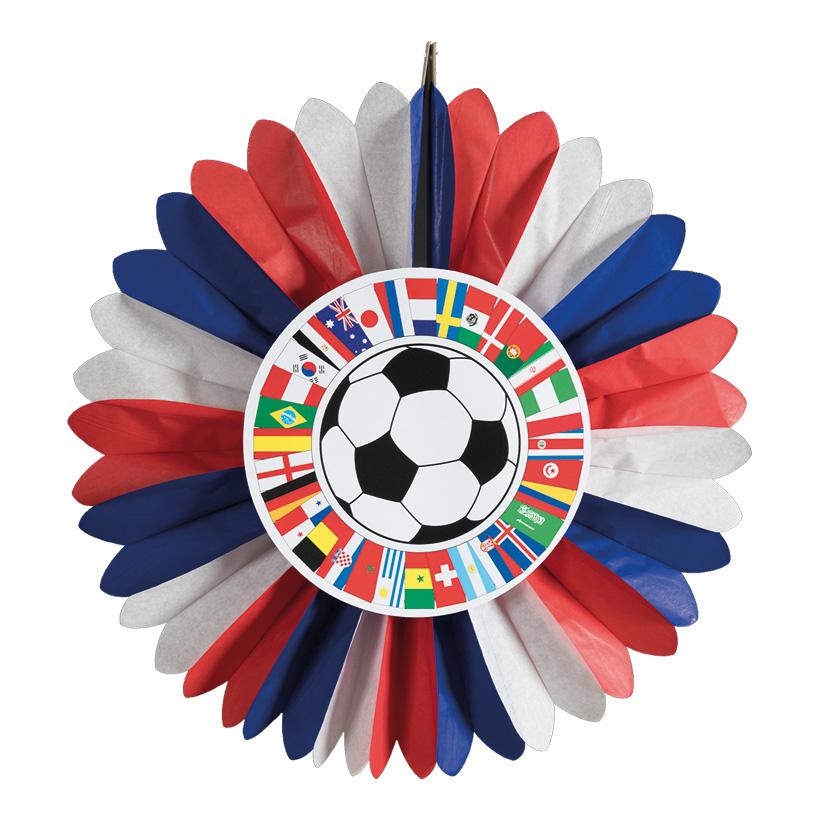 """# Rosette """"Fußball Cup"""", 60cm Russland, 2-seitig bedruckt, aus Papier, schwer entflammbar"""