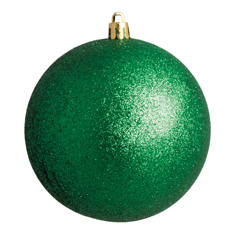 Weihnachtskugel, grün glitter, Ø 6cm 12 St./Blister