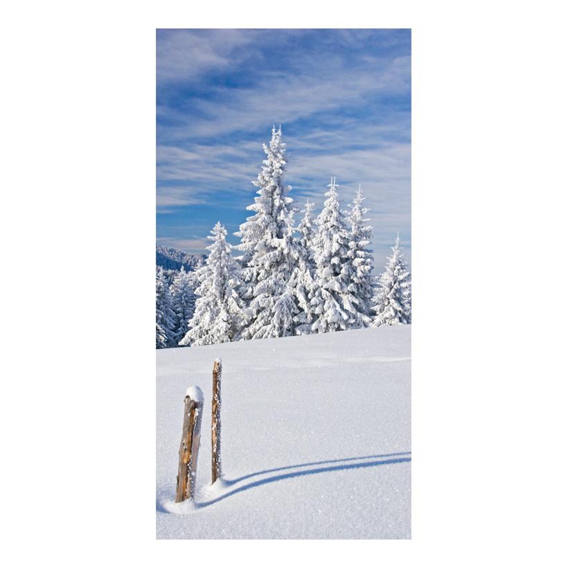 """# Motivdruck """"Winter in den Bergen"""", 180x90cm Papier"""
