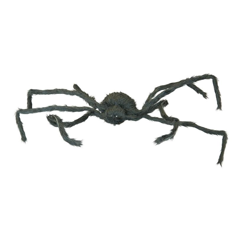 Spinne, 80x45cm macht Geräusche und läuft, Augen blinken rot, Beine sind biegsam, Kunststoff/Styropor/Polyester, batteriebetrieben, 3x AA, nicht inklusive
