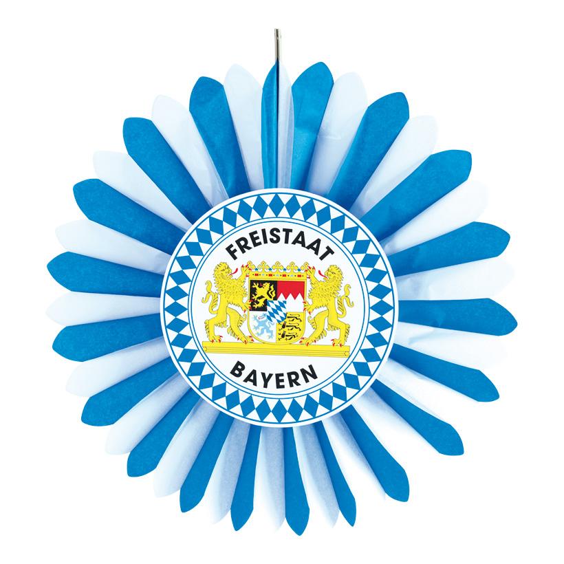 "# Rosette ""Freistaat Bayern"" 60cm aus Papier"