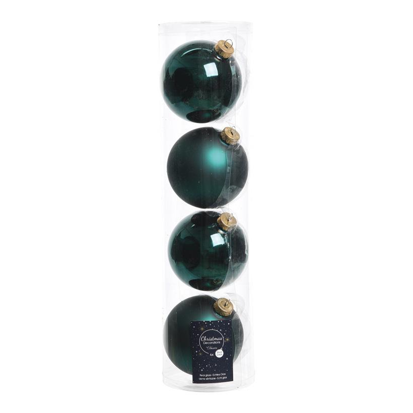 # 4 Weihnachtskugeln im Set, Ø 10cm 2x glänzend, 2x matt
