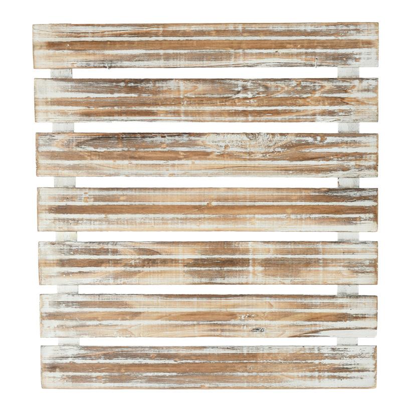 # Präsenterpaneel, 45x49cm, Holz, weiß gewischt