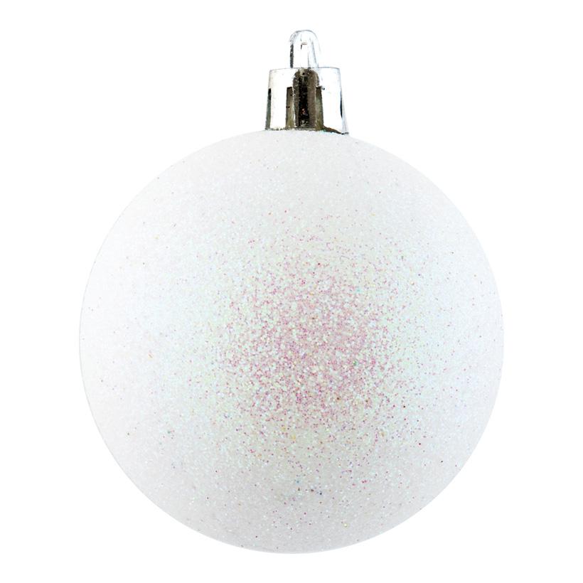 Weihnachtskugel, perlmutt glitter, Ø 6cm 12 St./Blister
