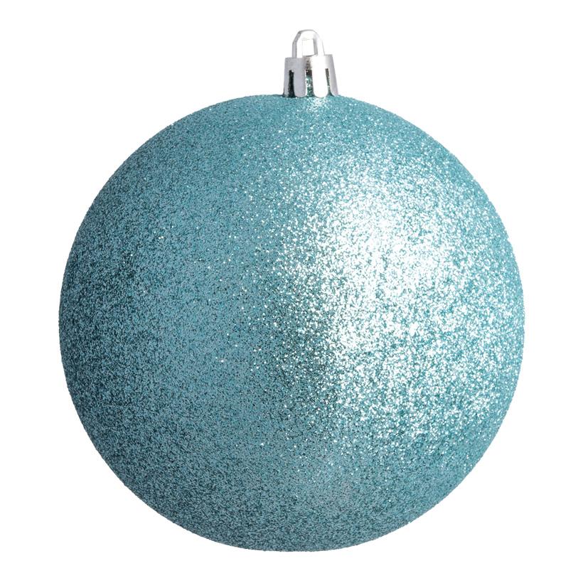 Weihnachtskugel, aqua glitter, Ø8cm 6 St./Blister