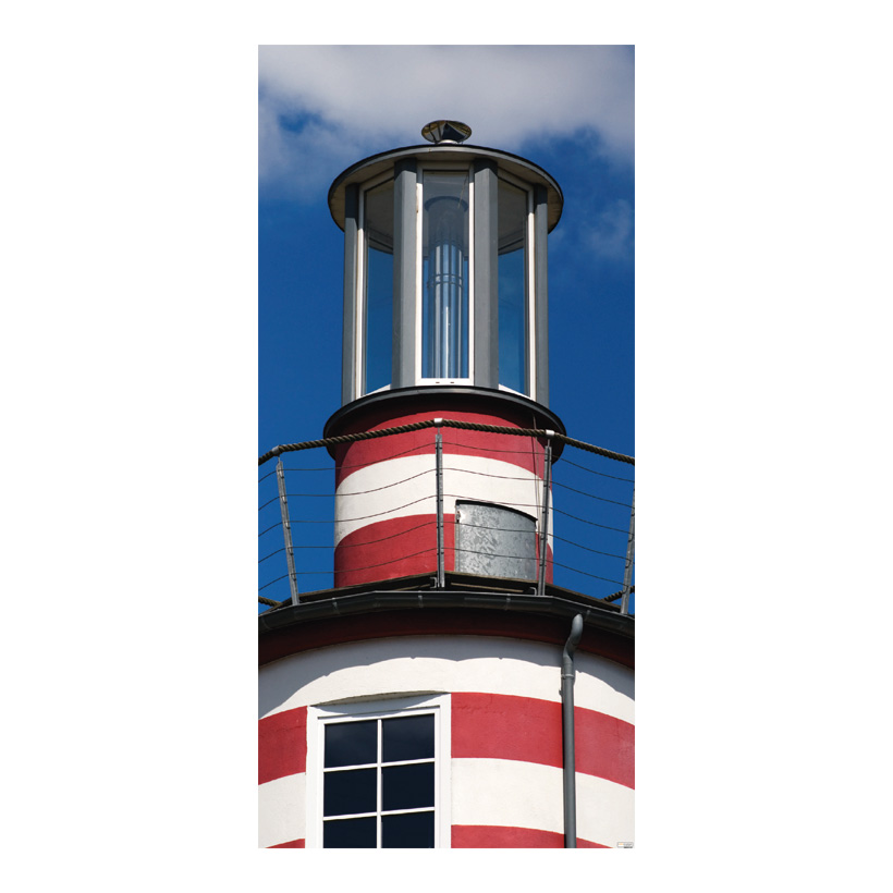 "# Motivdruck ""Leuchtturmspitze"", 180x90cm Stoff"