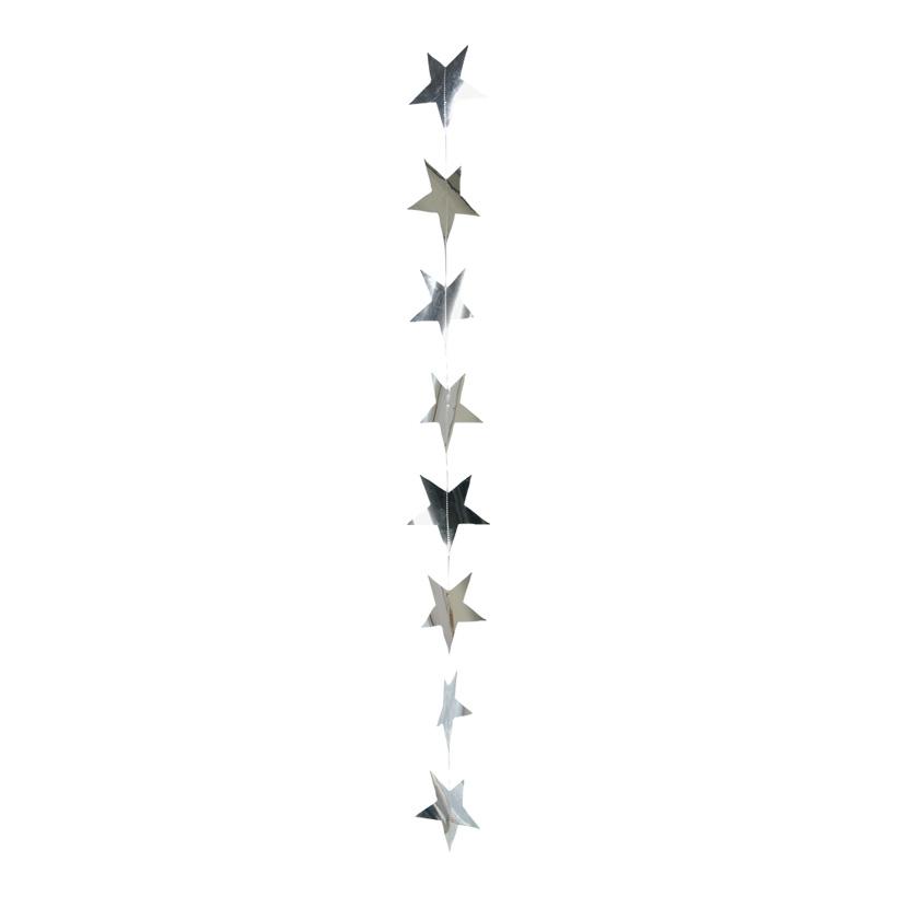 Foliensternkette, ca. Ø 8cm, 200cm, 15-fach, Metallfolie