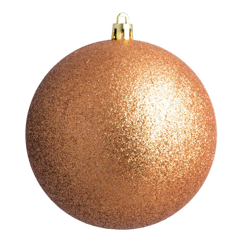 Weihnachtskugel, bronze glitter, Ø8cm 6 St./Blister