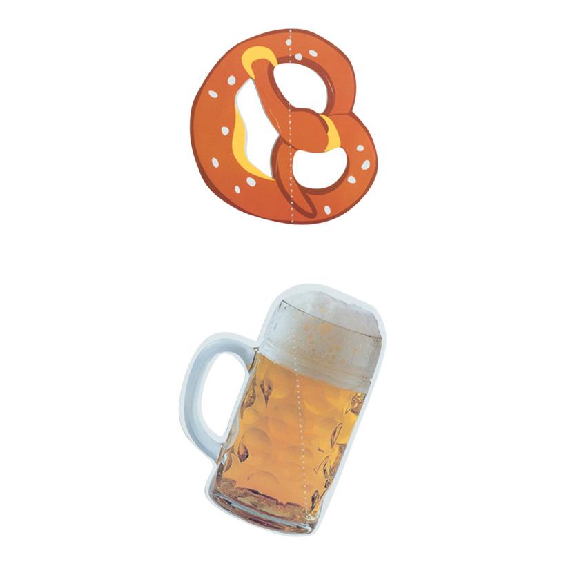 """# Hänger """"Brezel & Bier"""" 40cm aus Papier"""